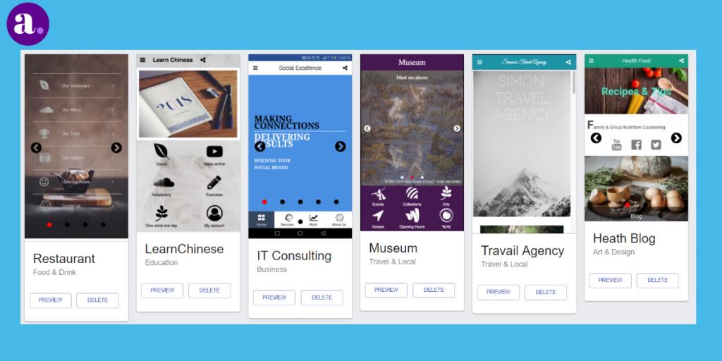 Create an app from scratch